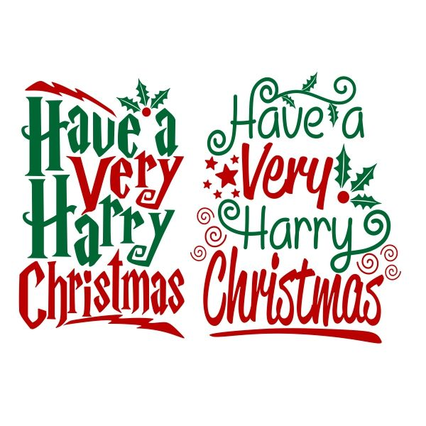 Have Harry Christmas Cuttable Design Cut File Vector Clipart
