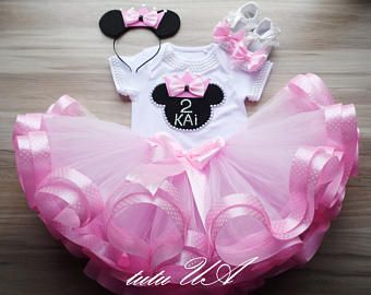 Rosa Princesa Minnie Tutu De Cinta Establece Minnie Mouse
