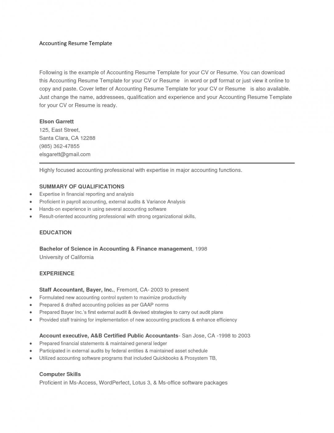 Free Resume Templates Copy And Paste Resume format