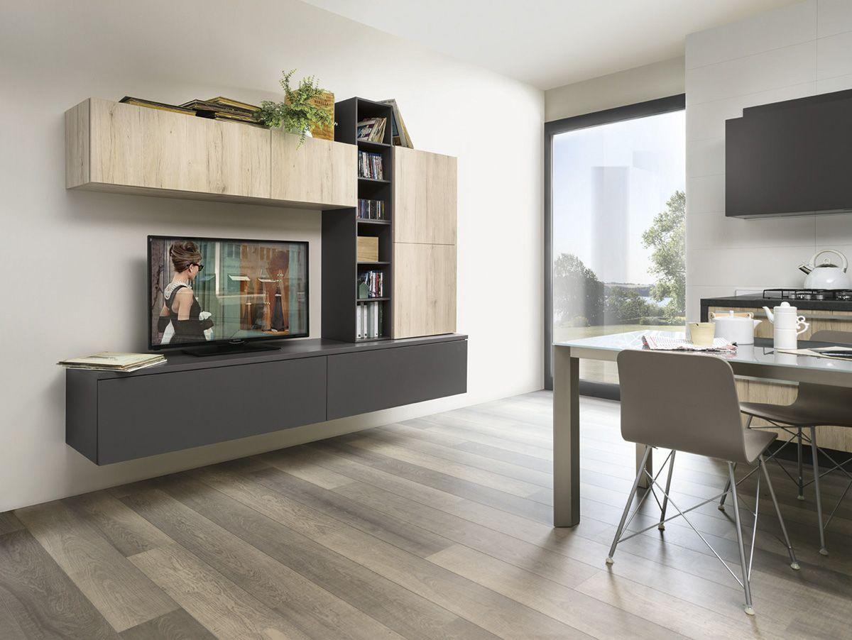 Varianti per Veneta Cucine #Living ROVERE MEDIO e ARDESIA | VARIANTI ...