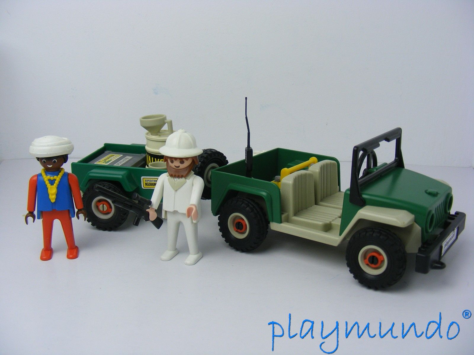 playmobil 3532 jeep con remolque aventura safari a o 1981. Black Bedroom Furniture Sets. Home Design Ideas