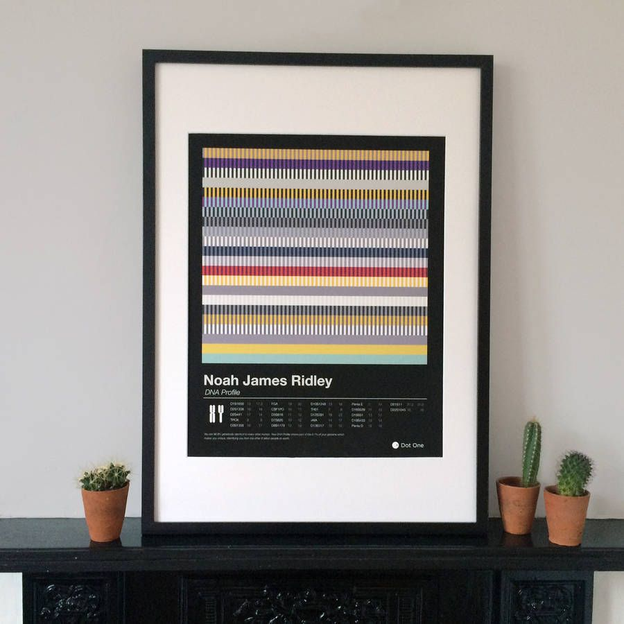 personalised dna print by dot one | notonthehighstreet.com
