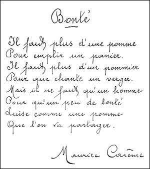Il Faut Plus Dune Pomme Maurice Carême Maurice Careme