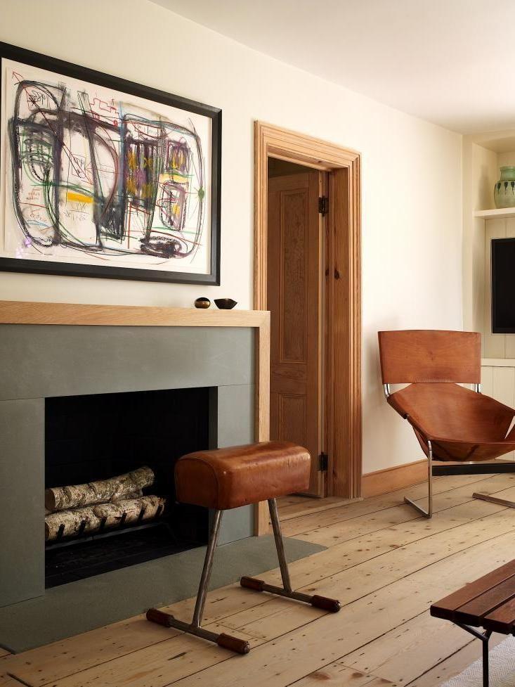 Classic Modern Fireplace Mantel Made Bluestone