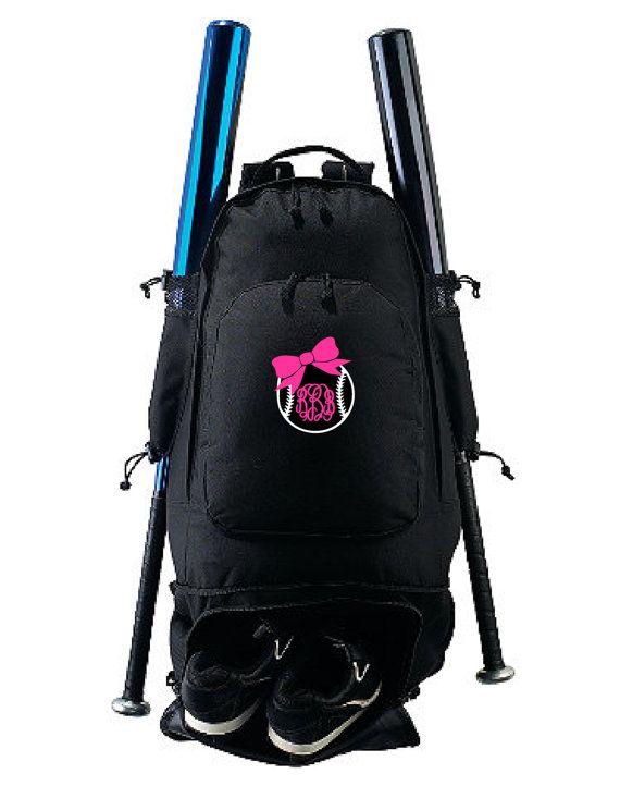 e8bce39243c5 Embroidered Expandable Bat Backpack 114AU Monogram by SoftballShop ...