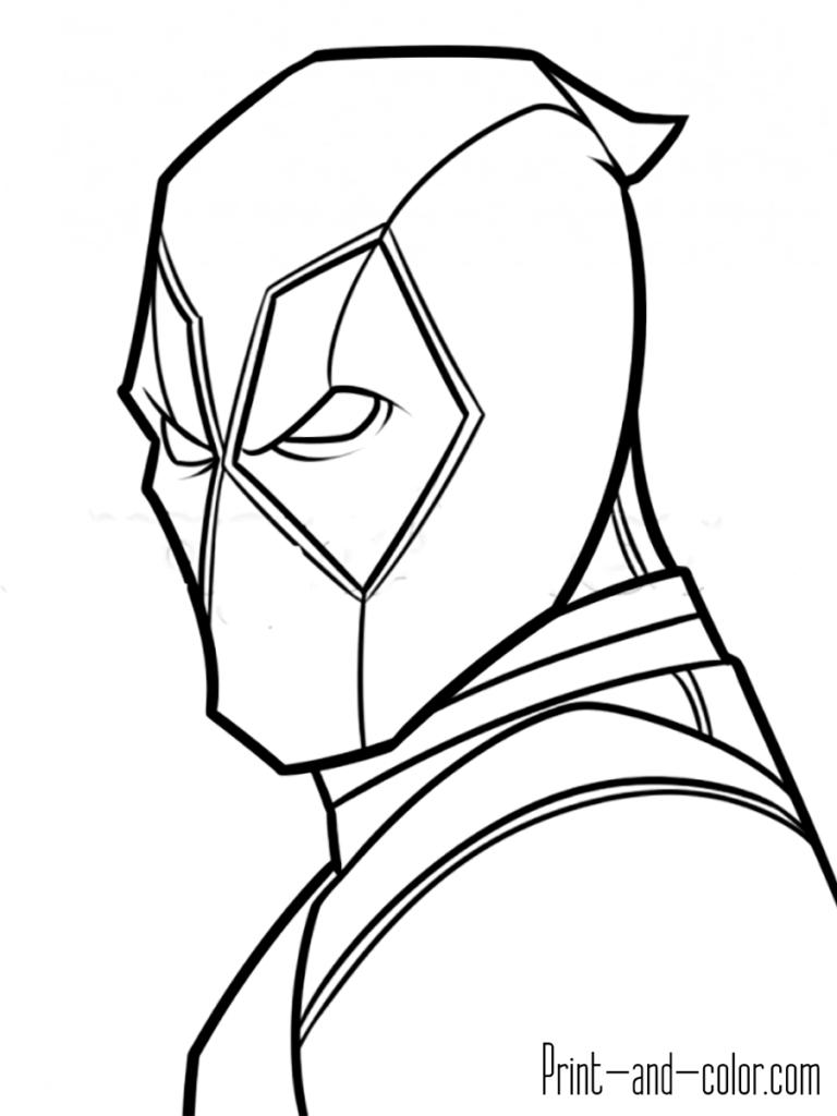 Deadpool Coloring Pages Dibujo Deadpool Dibujos De Super Heroes Naruto Dibujos A Lapiz