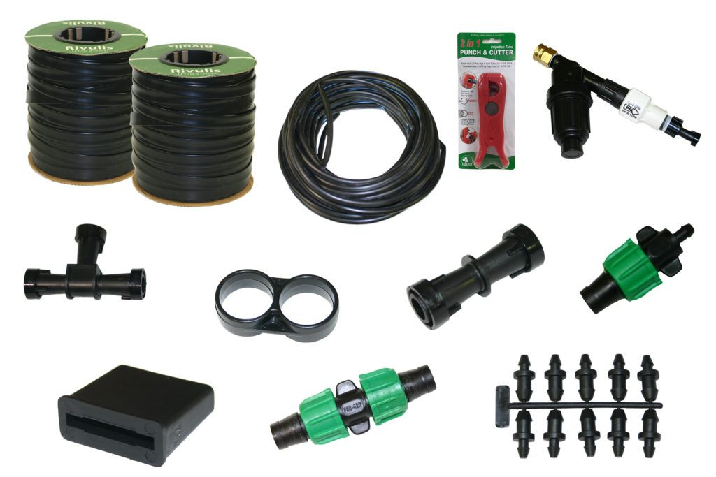 15 mil drip tape irrigation kit great for perennials and