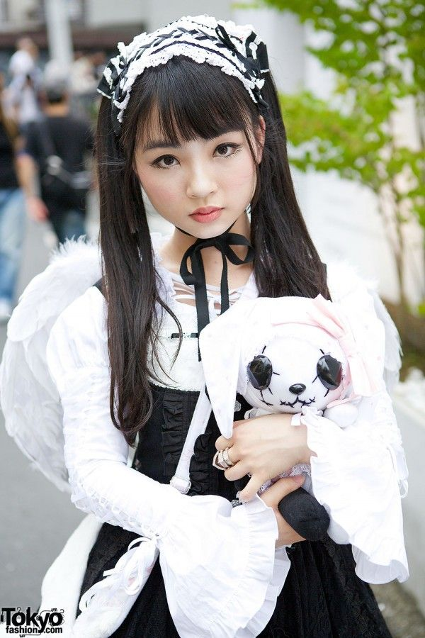 Gothic Lolita with Hangry & Angry Plush