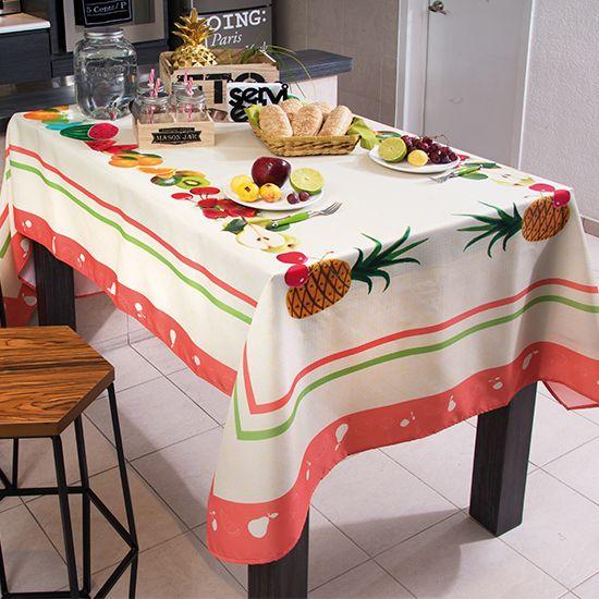Mantel rectangular frutas #cocina #mantel #hogar #intimahogar ...