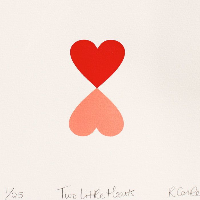 Two Little Hearts Print