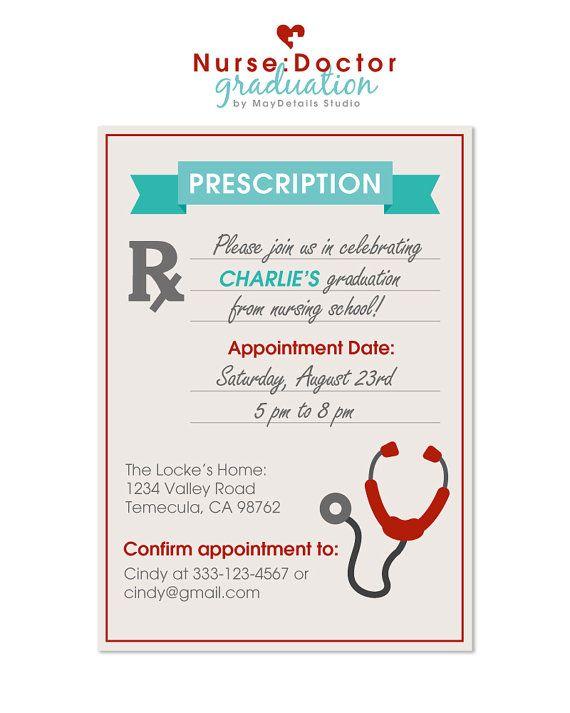 Prescription Invitation for NurseDoctor Party by MayDetailscom