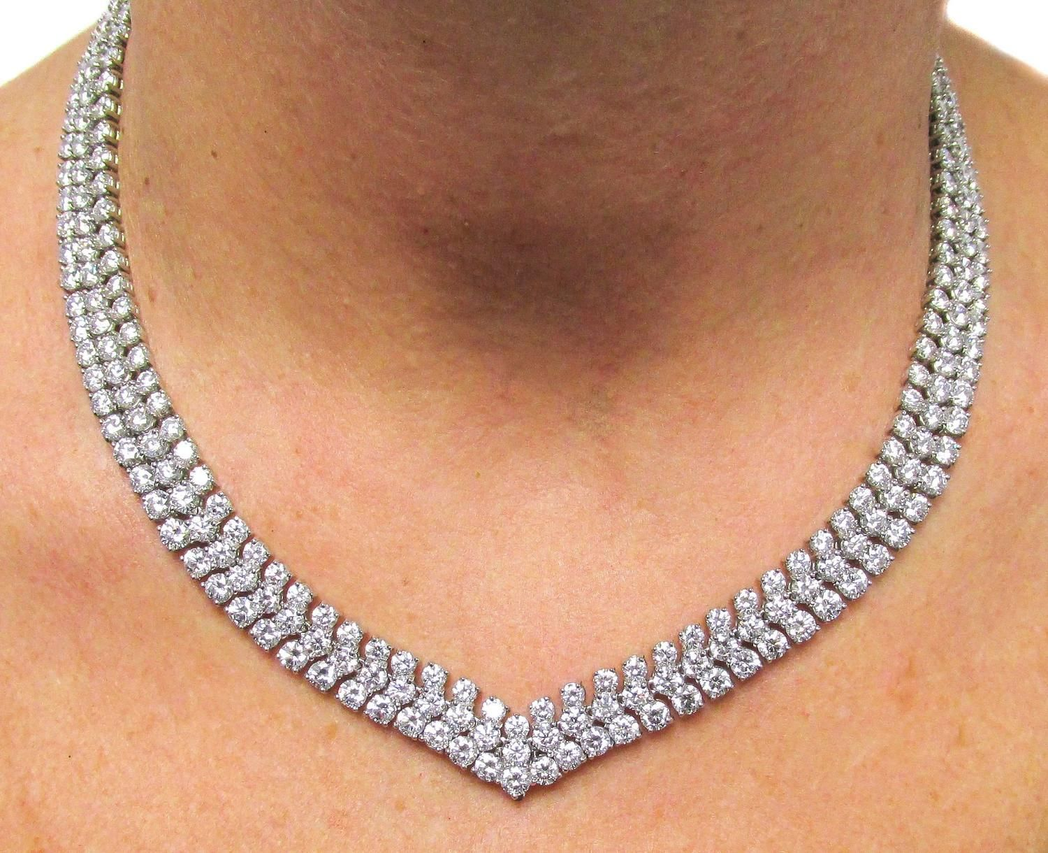 Cartier diamond platinum necklace waggering pinterest