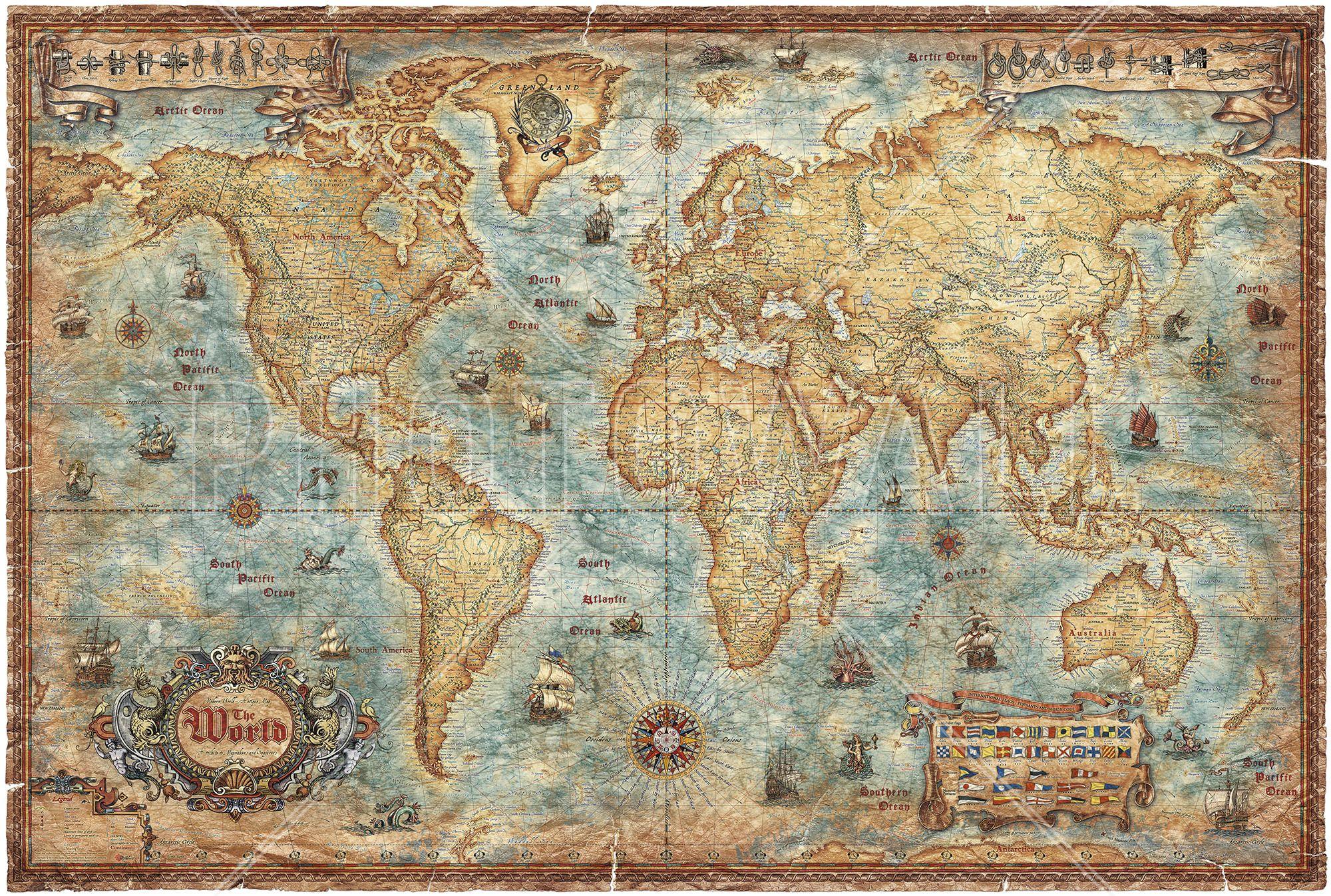 Modern world antique map wall mural photo wallpaper photowall modern world antique map wall mural photo wallpaper photowall gumiabroncs Images