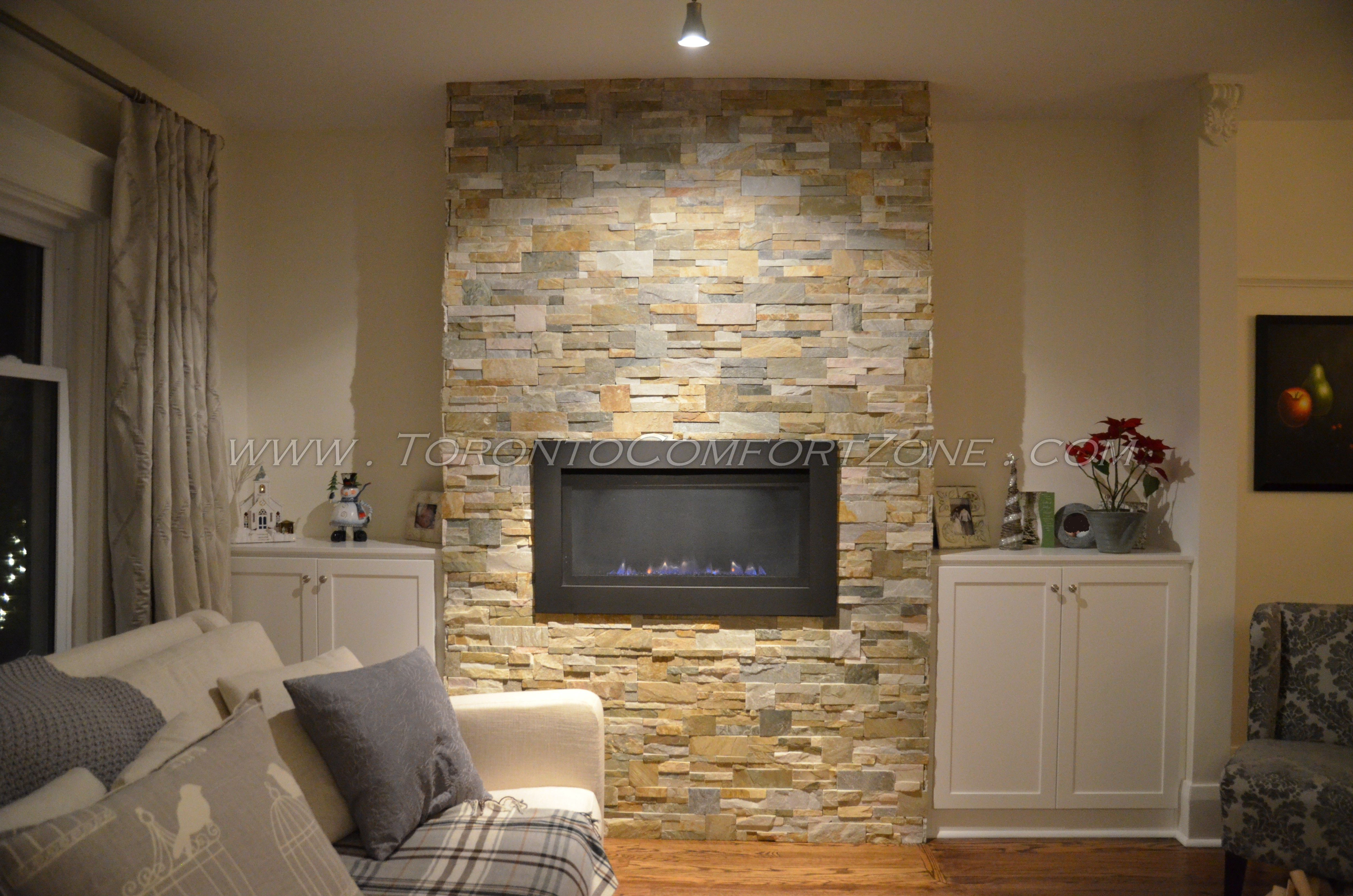 savannah bl936 fireplace with feature wall and cabinets