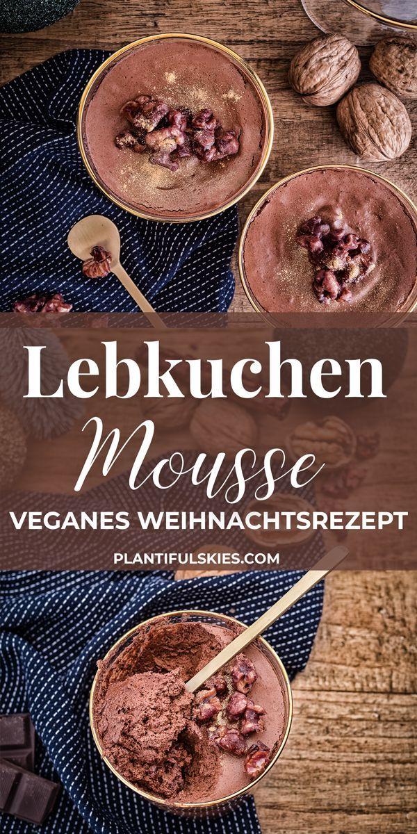 vegane lebkuchenmousse mit karamellisierten rotweinn ssen. Black Bedroom Furniture Sets. Home Design Ideas