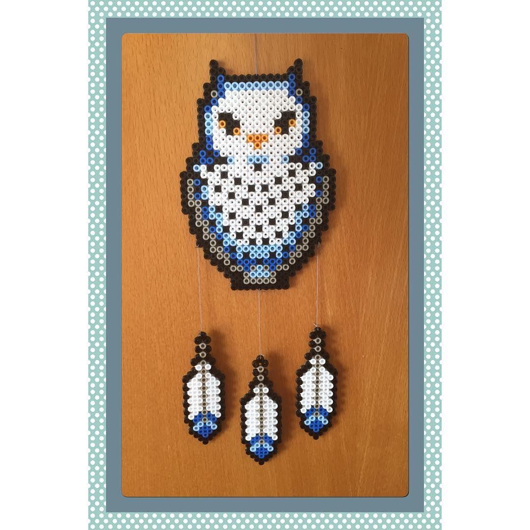 Owl dreamcatcher perler beads by gittejulie hama perlen perler pinterest b gelperlen - Fadenkunst vorlagen ...
