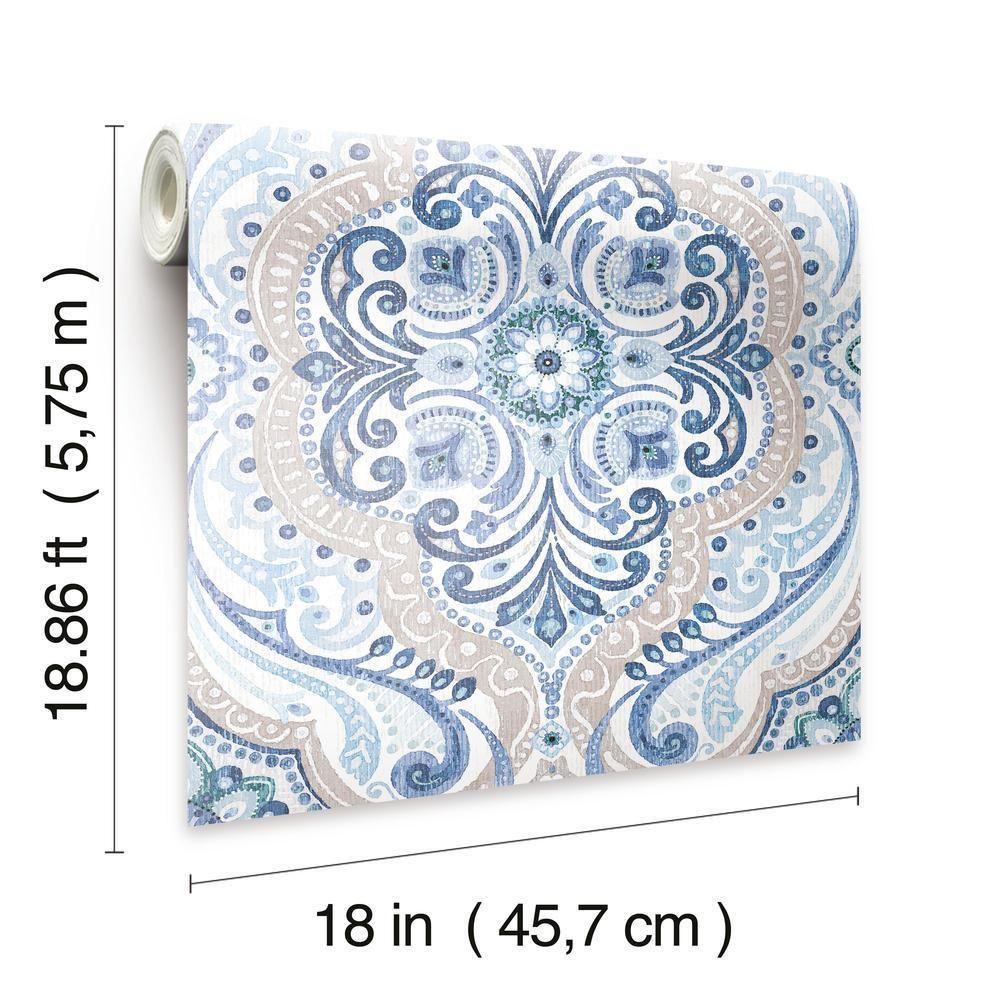 Bohemian Damask Peel And Stick Wallpaper Peel And Stick Wallpaper Room Visualizer Wallpaper Roll