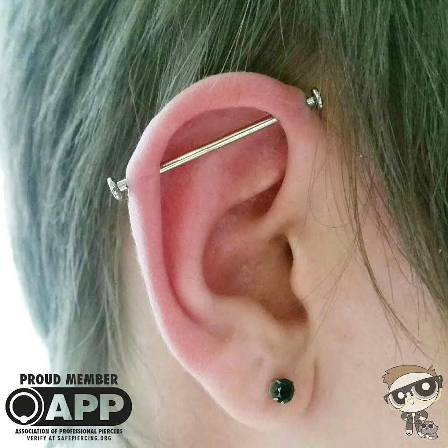 Nose piercing places near me  Fresh Industrial for this swelly young man Jewelry form the always