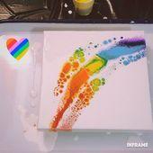 Fluid Acrylic Painting Video  Follow the Rainbow
