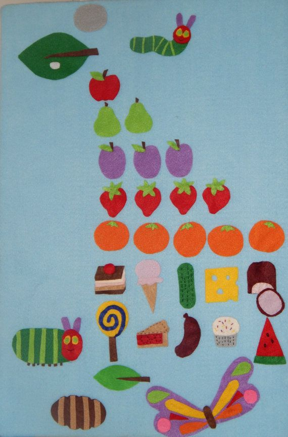 the very hungry caterpillar felt story hungry by