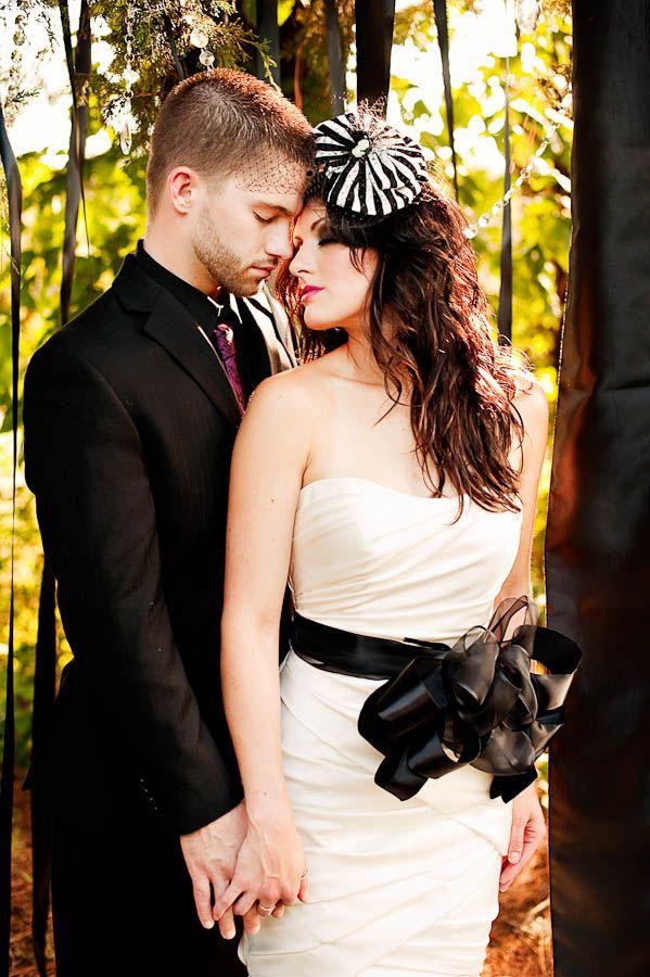 Elegant Tim Burton Inspired Wedding Inspiration   hats   Pinterest ...