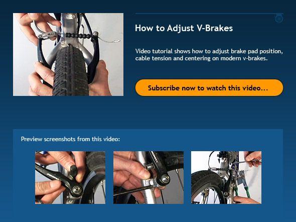 How To Adjust V Brakes Bike Bike Repair Diy Repair