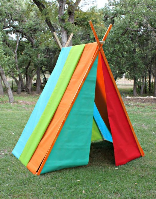 Use bolts of bright Oly-Fun fabric to create a large play tent that will keep the kids entertained! & Colorful Kids Play Tent using Olyfun fabric | Make 4 GBabies ...