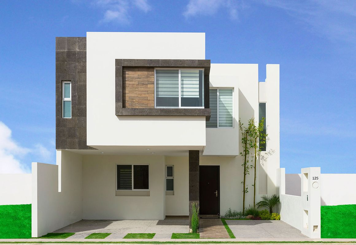 Fotos e im genes de fachadas de casas minimalistas o for Piedras para fachadas minimalistas