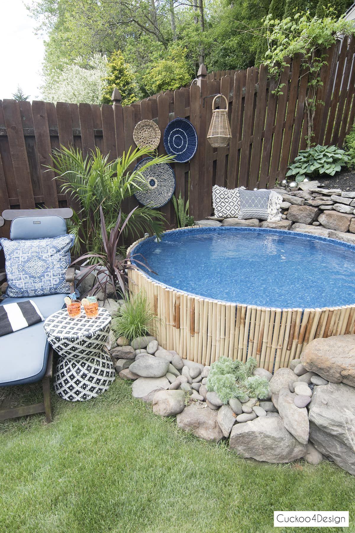 pool tank pools yard swimming sloped backyard patio hillbilly intex landscaping building decorations cuckoo4design galvanized bench liner trash creative piscina