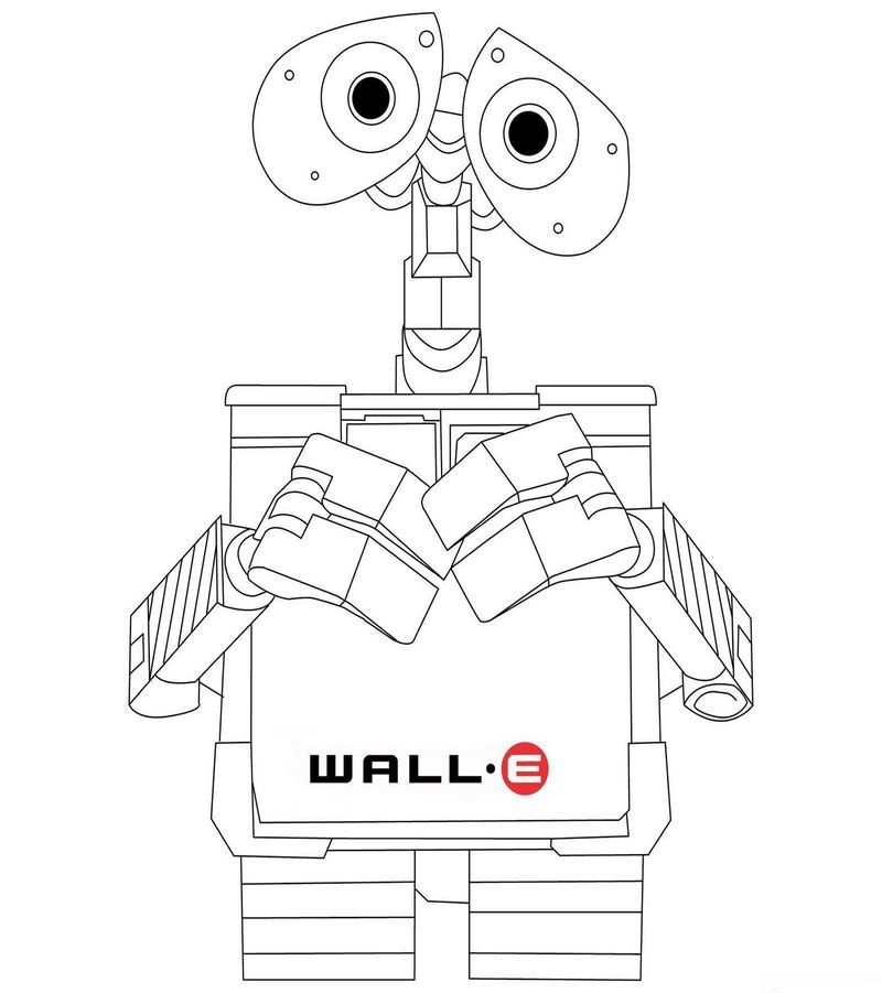 Wall E And Eve In Space Movie Wall E Coloring Pages For Kids Space Coloring Pages Coloring Pages Disney Coloring Pages