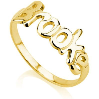 Signature Handwriting Ring - 18k gold plated.925 sterling silver