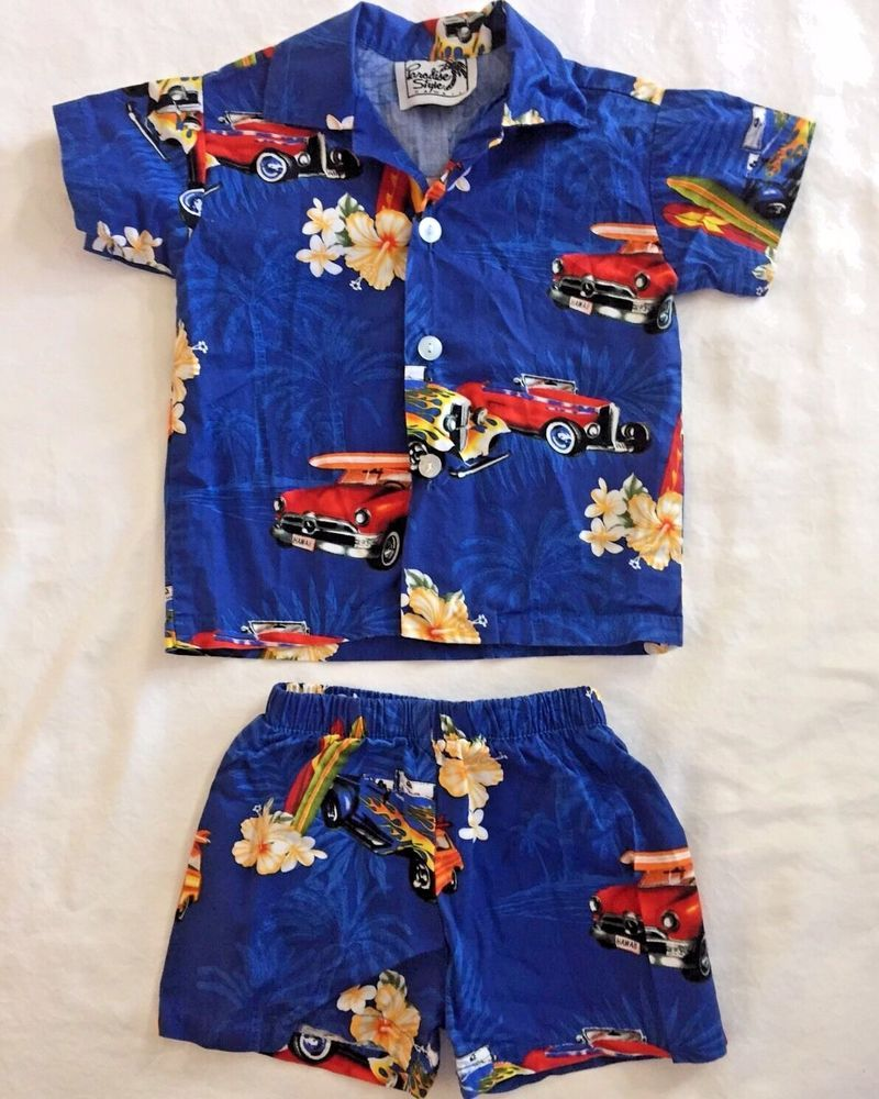 8d47bd04 12 Month Baby Boy Hawaiian Shirt and Shorts Set Paradise Style Hawaii Aloha  #ParadiseStyle #Casual