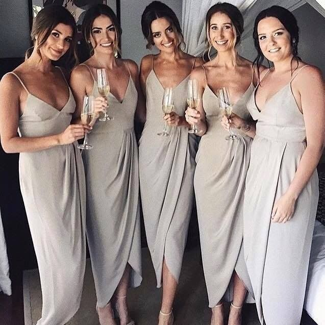 Neutral Bridesmaid Dresses