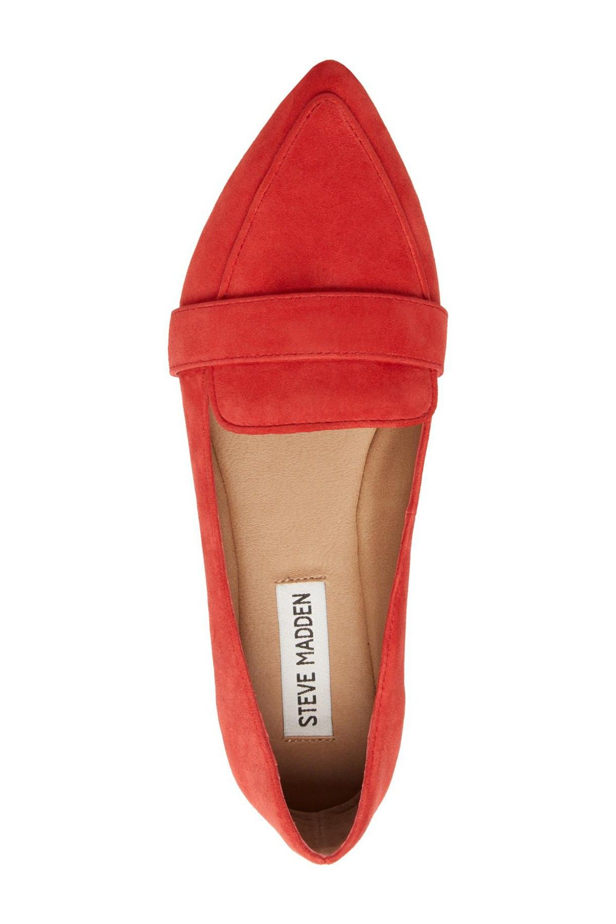 01c942fac21 Jainna Suede Penny Loafer by Steve Madden Details Chic loafer with a  pointed toe adds a