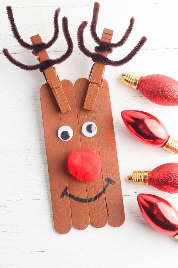 Photo of Popsicle Stick Christmas Crafts – Easy Reindeer Crafts for Kids!