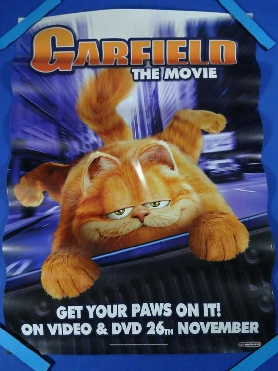 Garfield Authentic Video Store Vhs Original Film Poster Movie In 2020 Garfield The Movie Full Movies Online Free Garfield