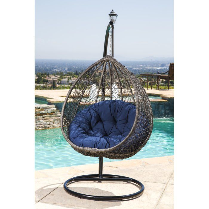 Pleasing Ostrowski Outdoor Wicker Swing Chair With Stand In 2019 Bralicious Painted Fabric Chair Ideas Braliciousco