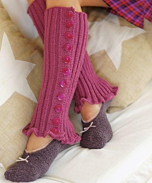Free Knitting Pattern - Button-up Leg Warmers | Crochet Loveliness | Pinterest | Leg Warmers ...