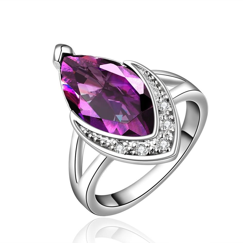 Purple Citrine Classical Jewels Covering Ring Size Women's