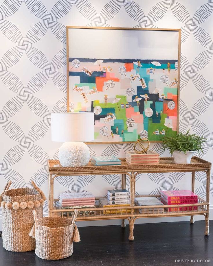 Serena & Lily Wallpaper Favorites + My Foyer Makeover