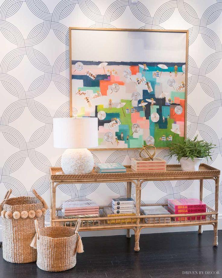 Serena & Lily Feather Wallpaper Baby room design, Safari