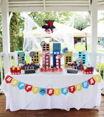 Spider Man Theme Birthday Party Decor 2 Boy Birthday Themes