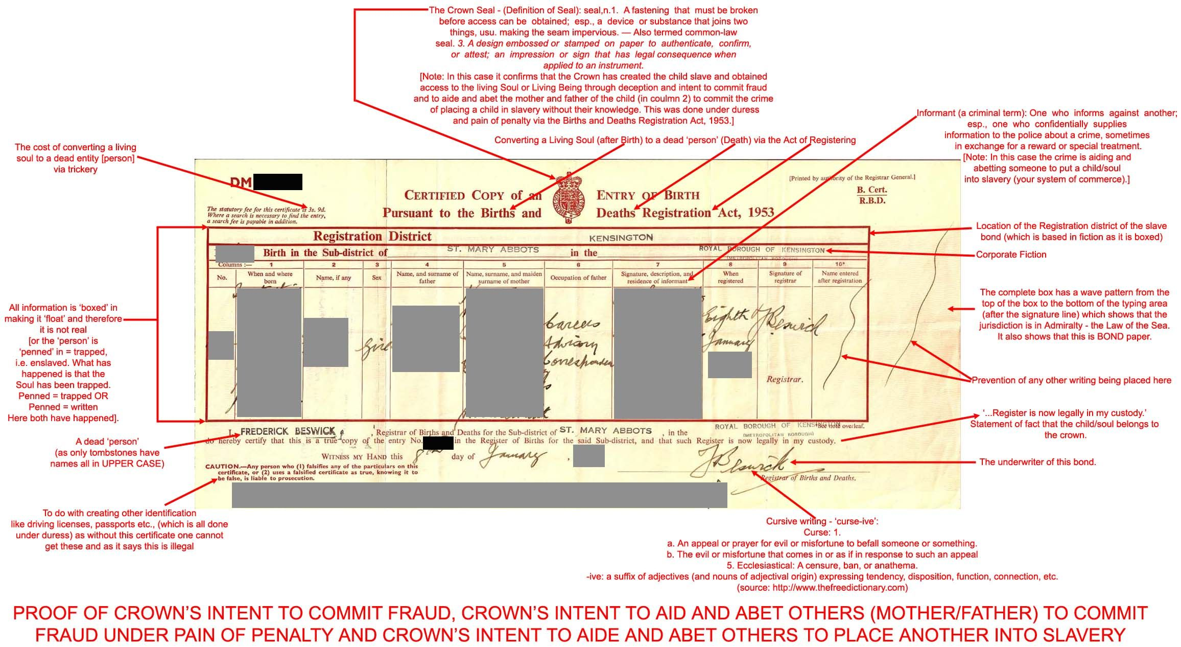 The birth certificate evidence of the crowns intent to commit the birth certificate evidence of the crowns intent to commit fraud aiddatafo Gallery