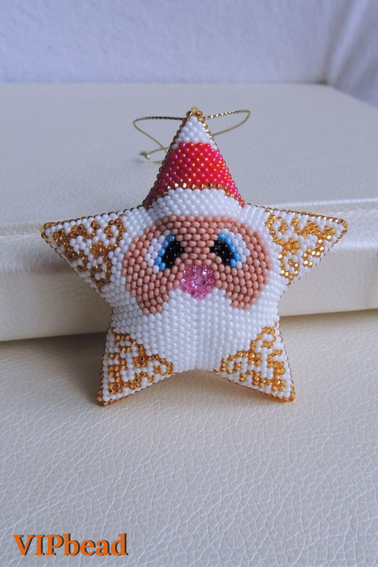 Beaded Santa Claus Santa Claus Toy Christmas Bead Toy Etsy Christmas Bead Christmas Tree Toy Beaded Ornaments