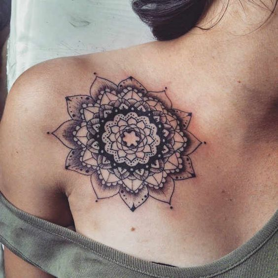 98539f3a52ad9 21 Trendy Mandala Tattoo Ideas for Women | Tattoo's | Bone tattoos ...