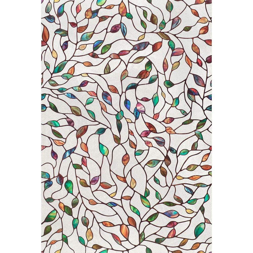 Artscape In X In New Leaf Decorative Window Film - Home depot bathroom windows for bathroom decor ideas
