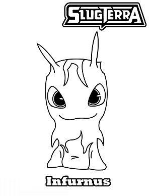 Slugterra Character Infurnus Coloring Page Kids Pages For Free Coloring And Print Bajoterra Para Colorear Bajoterra Babosas Bajoterra
