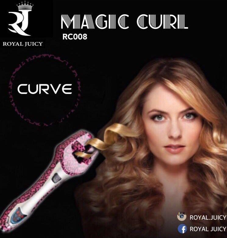 رويال جوسي ماجيك كيرل تعمل على تجعيد الشعر في 3 ثوان عمل خصلات شعرك بشكل كيرلي أو مموج لم يكن سريع جدا وسهل في السابق Curled Hairstyles Curlers Waves