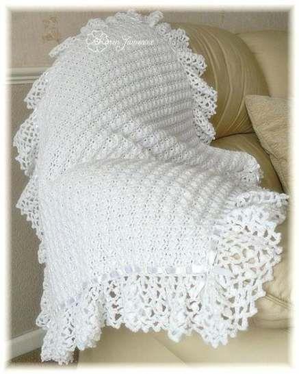 50 Ideas for crochet baby shawl christening free pattern # ...