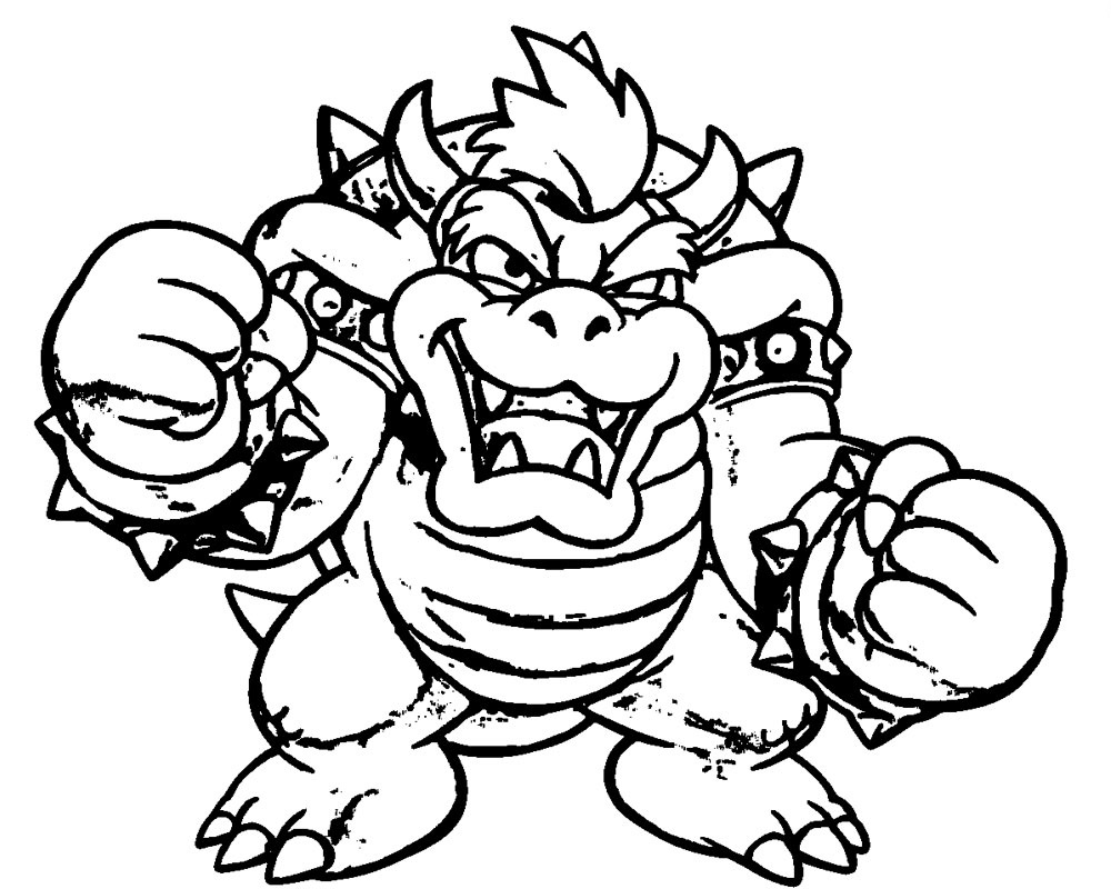 Bowser Coloring Page Super mario coloring pages